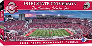 MasterPieces NCAA Ohio State Buckeyes, Stadium Panoramic Jigsaw Puzzle, The Horseshoe, 1000 Piece