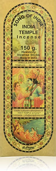 India Temple Incense Song Of India 120 Stick Large Box