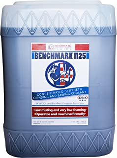Benchmark Fluids 1125 Premium Synthetic Metalworking Coolant, 5 gal, Bucket, Blue