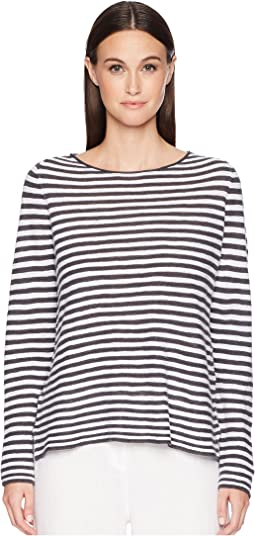Organic Linen Cotton Stripe Top