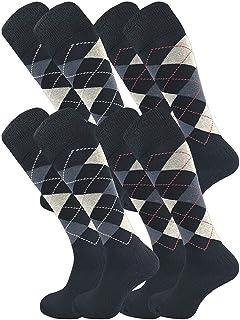 GAWILO Lot de 4 paires de chaussettes d'équitation pour homme et femme - Semelle en peluche - Sans coutures