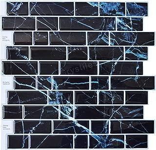 Best black stick on tiles Reviews