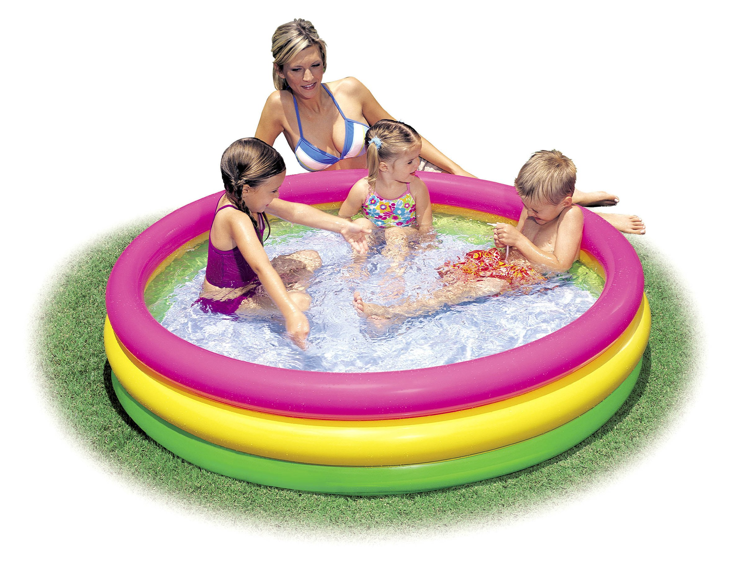 Intex 57422NP - Piscina hinchable 3 aros Sunset 147 x 33 cm ...