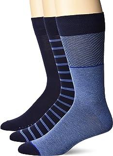 mens Basic Rib Dress Crew Socks, Multipack, 3 Pack