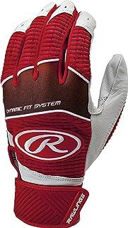 Rawlings Workhorse 950 Series Adult Batting Gloves,Scarlet,Large