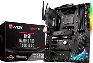 MSI Performance GAMING AMD Ryzen 1st and 2nd Gen AM4 M.2 USB 3 DDR4 HDMI Display Port WIFI Crossfire ATX Motherboard (B450...