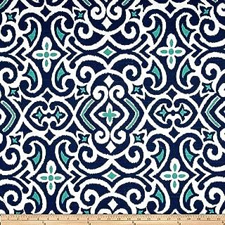 Robert Allen Dwell Studio New Damask Fabric, Marine