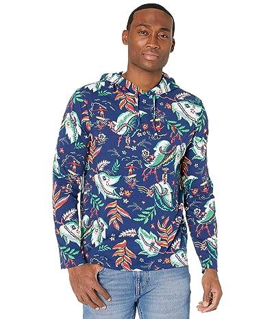 Polo Ralph Lauren Hooded T-Shirt (Fall Royal Sunset Beach Print) Men