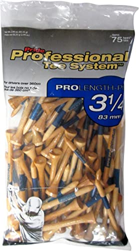 wholesale Pride Professional Tee System ProLength sale Plus Tee, 3-1/4-Inch, 75 discount Count Bag (Blue on Natural) online