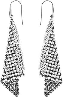 Swarovski Women's Gray Rhodium plated Gray Fit Pierced Earrings 976061
