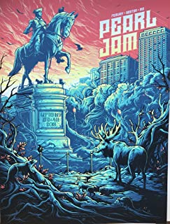 Pearl Jam boston poster fenway park dan mumford 2018 tour pj new