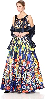 Mac Duggal Women's Bright Multi Print Ballgown