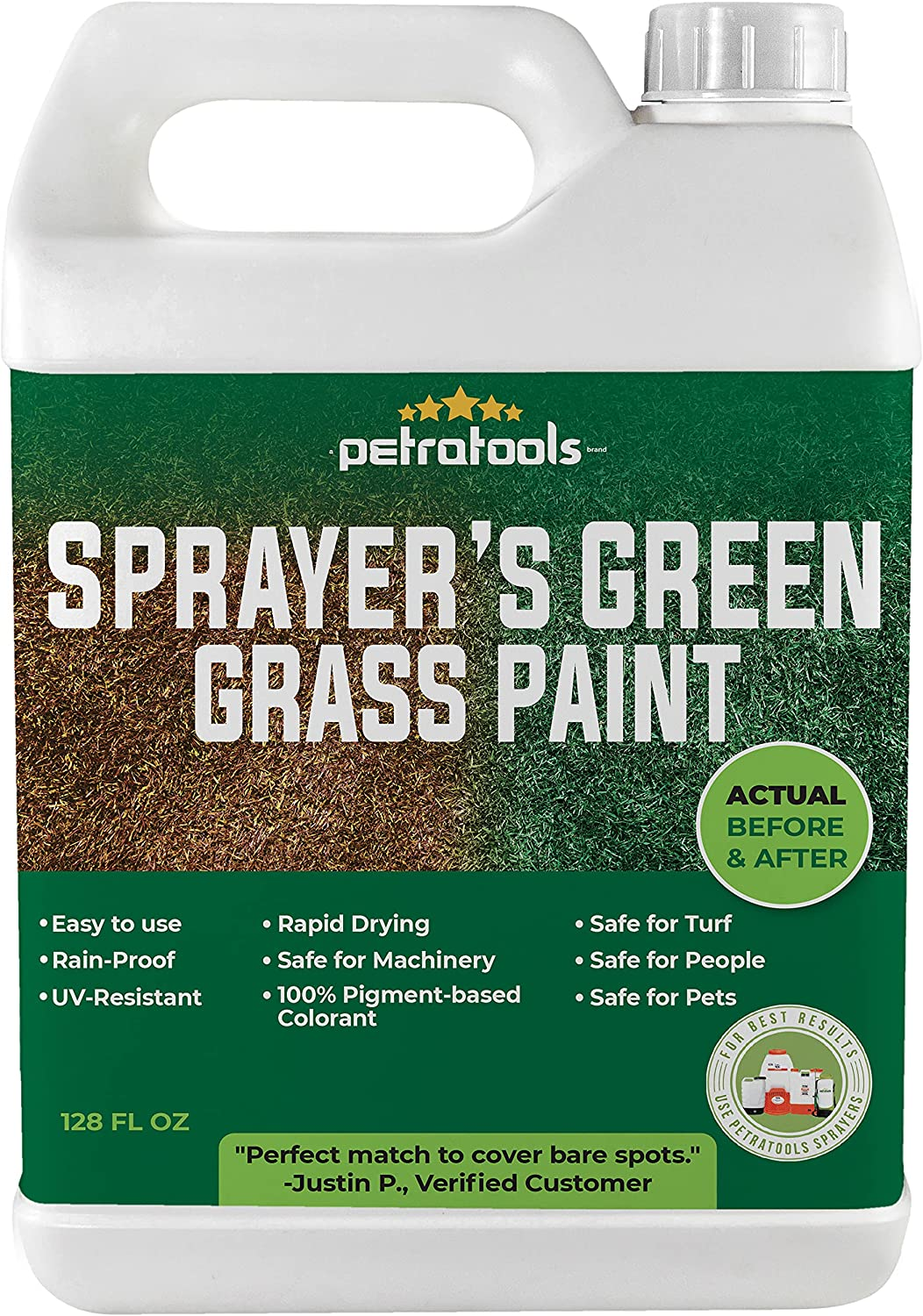 PetraTools Limited time cheap sale Sprayer's Green Grass – Seasonal Wrap Introduction Paint Lawn L