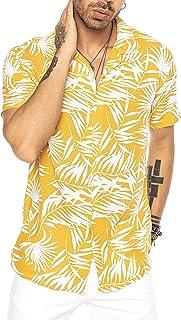 Camisa Hawaiana Moderna de Manga Corta para Hombres