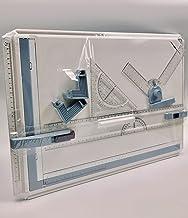 Tablero de Dibujo A3, Multifunción Profesional Diseño de Mesa con Movimiento Paralelo y Ángulo Ajustable,Color blanco, KioiKioi
