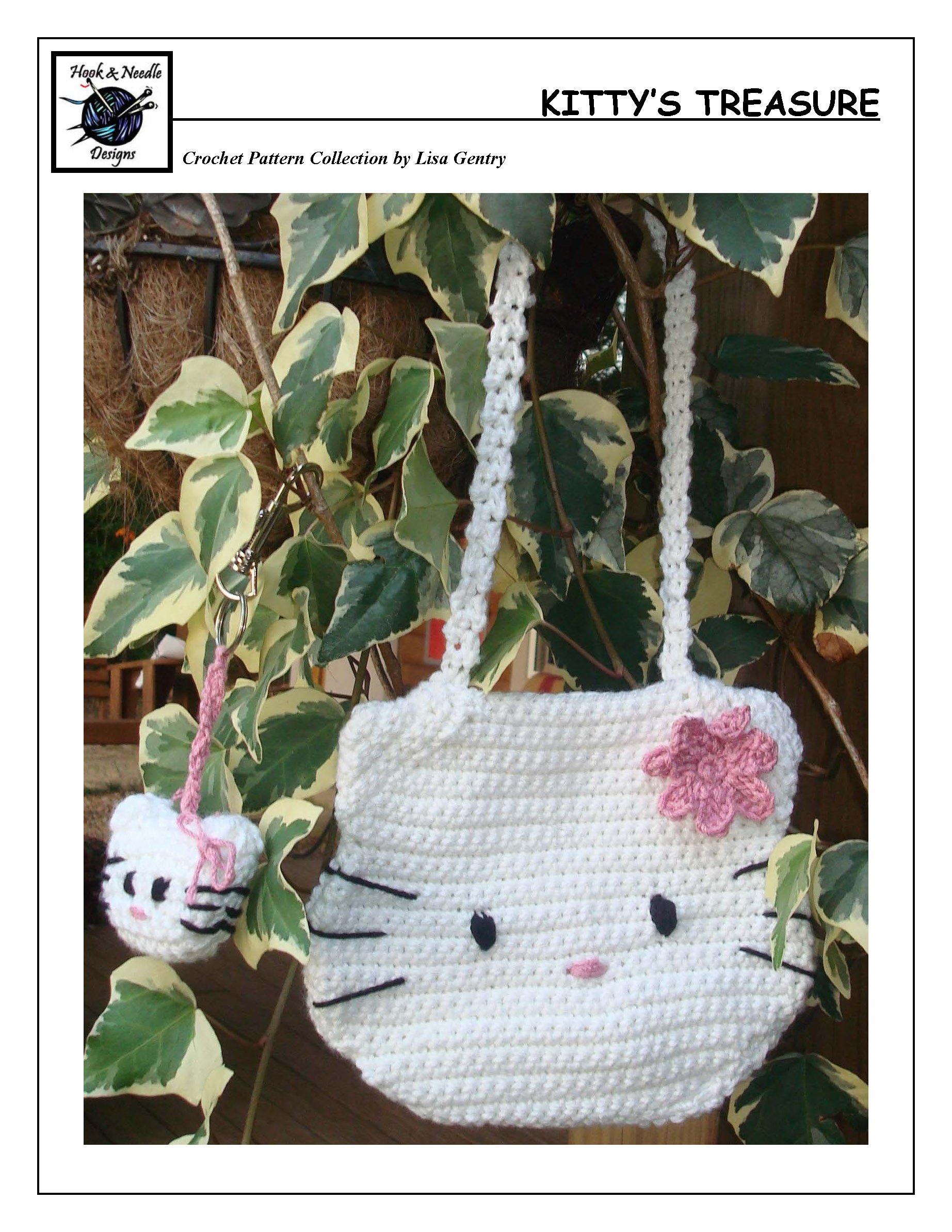 Miniature amigurumi Hello Kitty keychain (free crochet pattern ... | 2387x1845