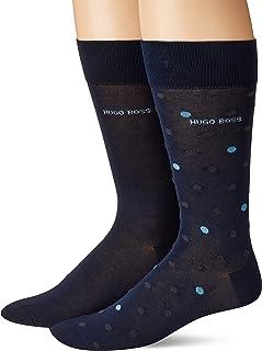 BOSS HUGO BOSS Men's 2-Pack rs dot Dress Socks