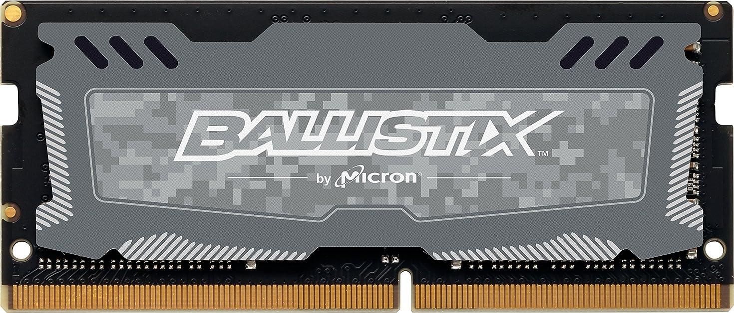 Ballistix Sport LT 16GB Single DDR4 2400 MT/s (PC4-19200) CL16 DR x8 SODIMM 260-Pin  - BLS16G4S240FSD (Gray)