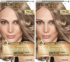 L'Oréal Paris Superior Preference Fade-Defying + Shine Permanent Hair Color, 7.5A Medium Ash Blonde, 2 COUNT Hair Dye