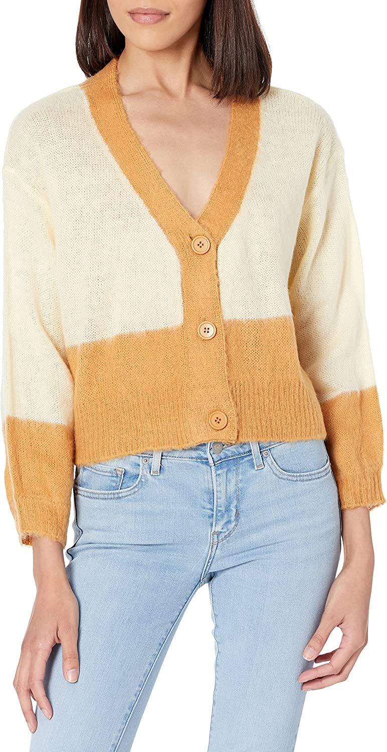 KENDALL + KYLIE Women's Block Cropped Cardigan