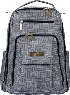 JuJuBe Be Right Back Backpack | Travel-Friendly Diaper Bag, Compact Stylish Backpack Purse for Kids and Adults, Adjustable Straps, Machine Washable | Geo