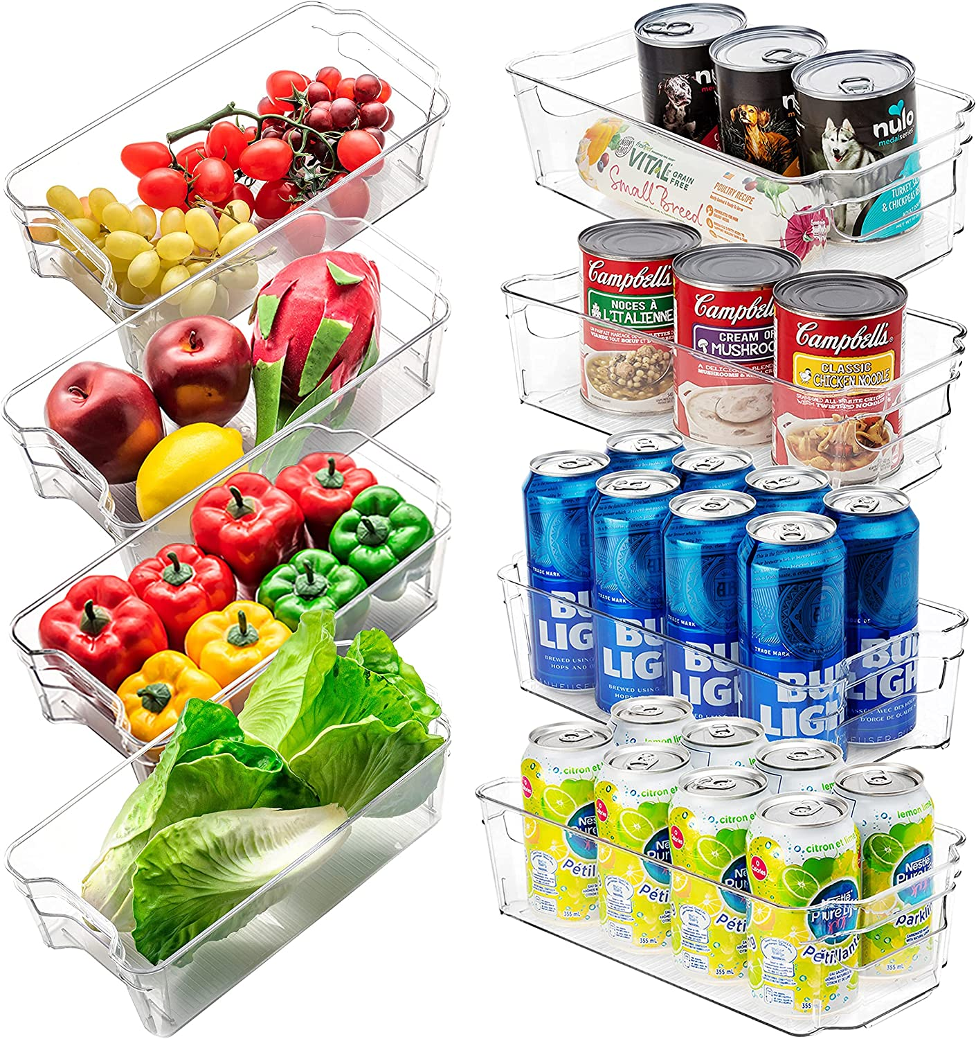 Jinamart All items free shipping Import Pantry Organizer Bins with Plastic Containers f Handle