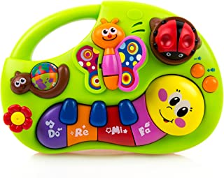Toysery Kids Keyboard Piano Musical Toy- Baby Musical Piano Toy Instruments with Songs Animal Sound Piano - Color Recognition for Toddler, Infant Bullet Points: