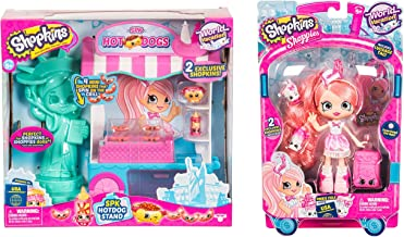 Shopkins Season 8 USA Hotdog Stand Playset and Shopkins Shoppies Pinkie Cola Visits America bundled by Maven Gifts