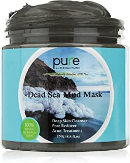 PURE Dead Sea Mud Mask for Face, Body/Hair, 100% Natural and Deep Skin Cleanser, Clears Acne, Reduces Pores and Wrinkles, Ultimate Spa Quality, Mineral Infused Additive Free, 8.8 oz.