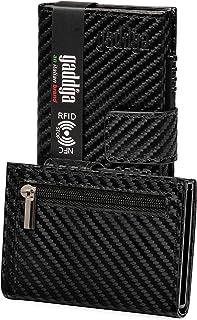 Porta Carte di Credito Portafoglio Uomo Donna gaddga Porta Tessere Documenti Zip Regalo Blocco RFID/NFC Schermato Pelle PU...