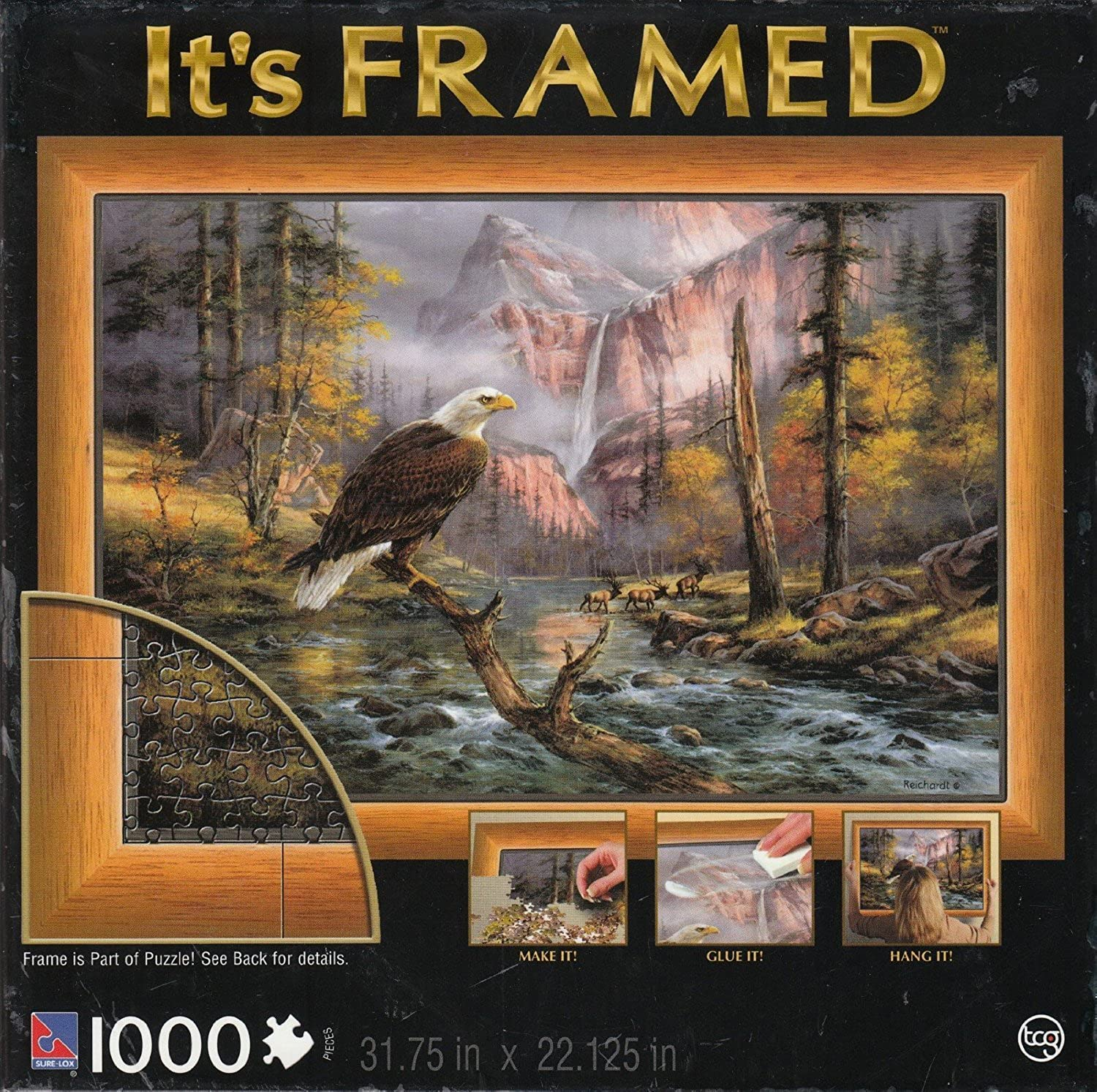 Its Framed 1000 Piece Puzzle - Eagle Perch