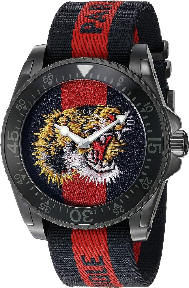 Gucci orologio analogico classico quarzo uomo YA136215