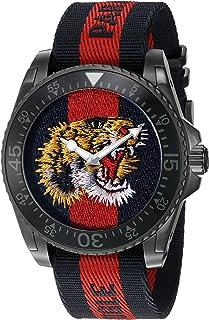 Gucci - Reloj Análogo clásico para Hombre de Cuarzo con Correa en Nailon YA136215