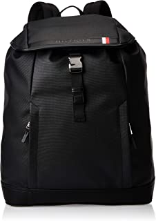 Tommy Hilfiger COATED CANVAS BACKPACK, Black, 45 AM0AM04895
