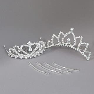 Best Butterfly Craze Girls Princess Tiara Crown with Comb for Costume Accessories 2 pcs Review