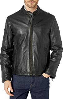 Cole Haan Men's Smooth Leather Classic Moto Jacket