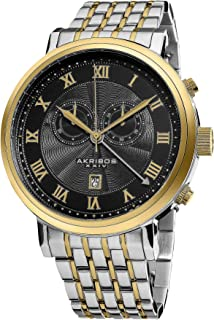 Akribos XXIV Men's AK590TTG Swiss Chronograph Stainless Steel Bracelet Watch