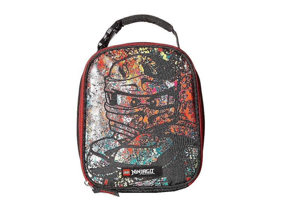 LEGO Ninjago(r) Spraypaint Lunch Bag (Black) Duffel Bags