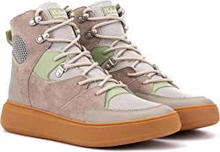 Hybrid Green Label Men's Globetrotter High Top Athletic Casual Tennis Hiking Walking Working Shoes, Sneakers, and Boots