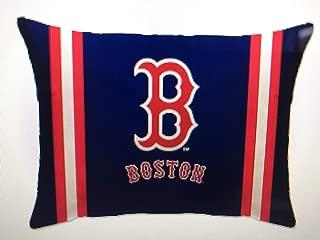 Pegasus Sports MLB Unisex MLB Plush Logo Bed Pillow, Boston Red Sox 20 x 26