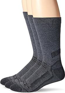 Carhartt Breathable & Lightweight Work Crew Men`s Socks | Odor Resistant Socks with Reinforced Heel & Toe | Pack of 3