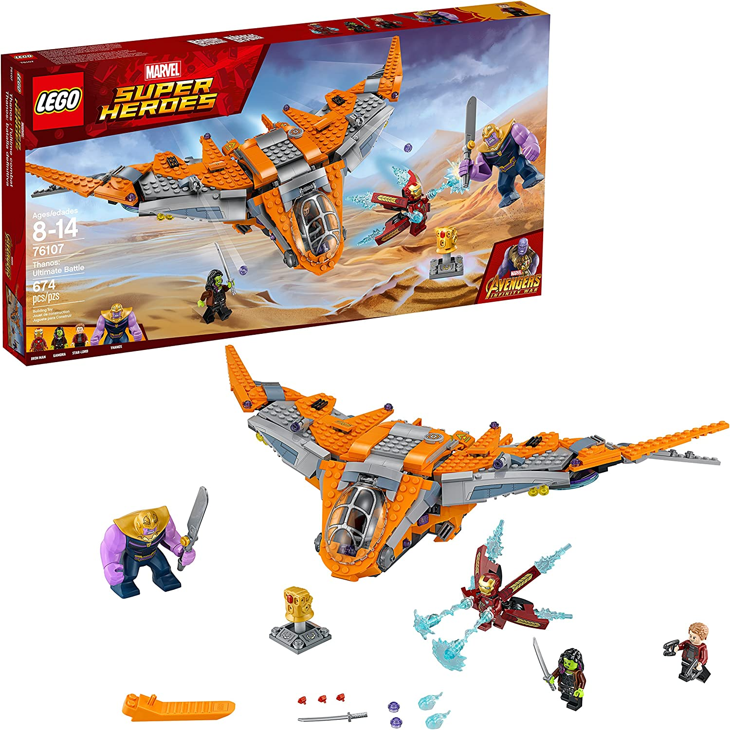 LEGO Marvel Super Heroes  Thanos  Ultimate Battle [76107  674 Pieces]