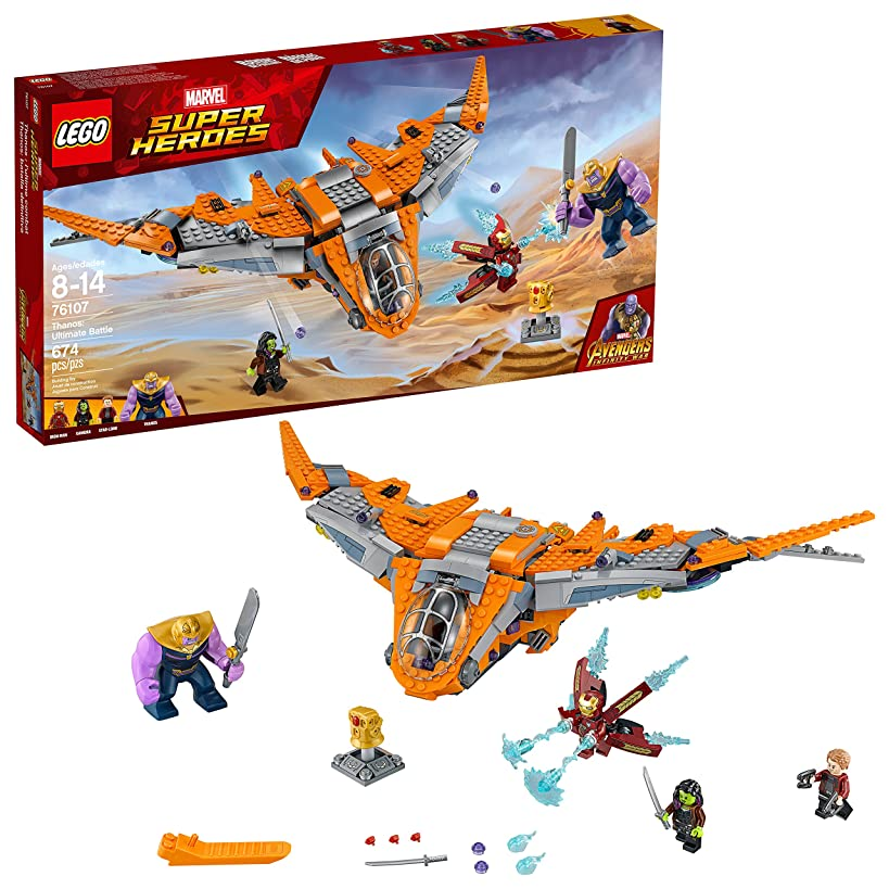 LEGO Marvel Super Heroes Avengers: Infinity War Thanos: Ultimate Battle 76107 Guardians of the Galaxy Starship Action Construction Toy and Building Kit for Kids (674 Piece)