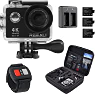 4K Sports Action Camera by REMALI, The Best Action Camera Package Available ON Amazon - Carrying...