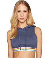 Emporio Armani - Over the Rainbow Crop Hoodie Top