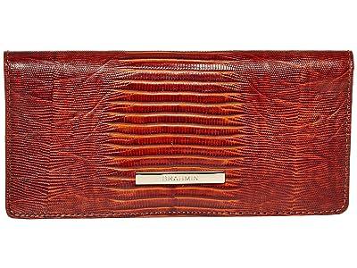 Brahmin Elysian Ady Wallet (Cognac) Wristlet Handbags