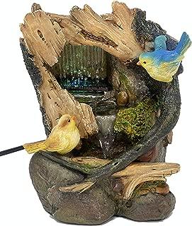 ImagiWonder Tabletop Fountain Bird Pair Near Cave Waterfall