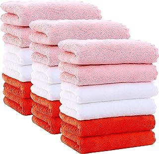 پارچه مخمل کودک Velvet Texture 18 Pack 9x9 اینچ - میکروفایبر مرجان پشم گوسفند فوق العاده جاذب و نرم برای نوزادان ، نوزادان و کودکان نوپا