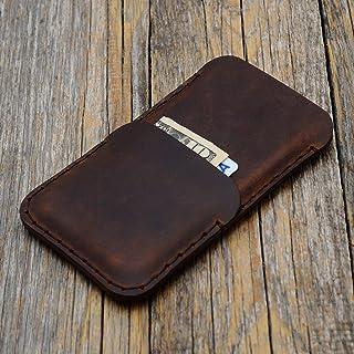 Funda con cartera para el Galaxy S10+, S9+ Marrón