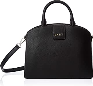 DKNY Women's Satchel, Black/Gold - R93DSD79